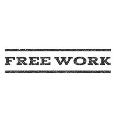 Free Work Watermark Stamp vector