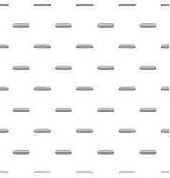 Gray rectangular button pattern vector
