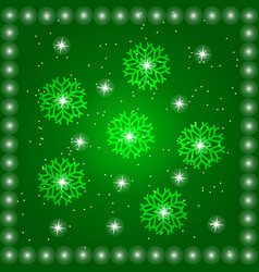 green backgroundwith stars vector image