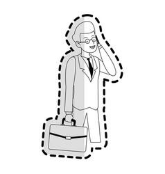 happy businessman icon image vector image
