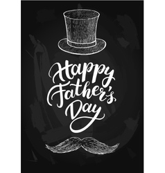 Happy Fathers Day card with handwritten vector