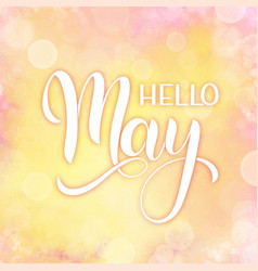 hello may lettering vector image