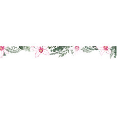 Horisontal botanical design banner floral vector