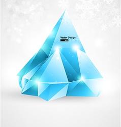 Ice Christmas Design vector image