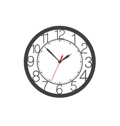 Icon of wall clock face with digits clock hands vector