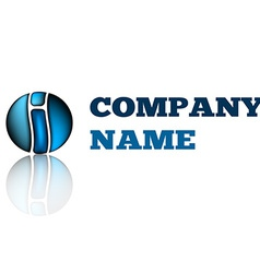 Idea design logo of company on latter i Technology vector image