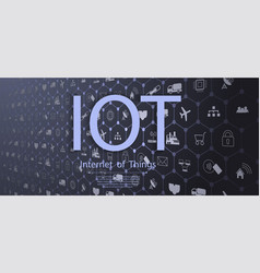 internet of things iot devices vector image