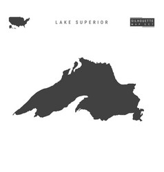 Lake superior map isolated on white background vector