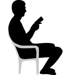 Man is reading a book vector