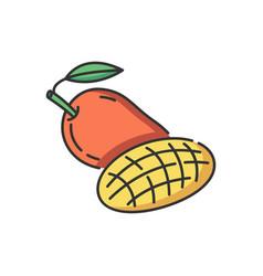 Mango fruit rgb color icon vector