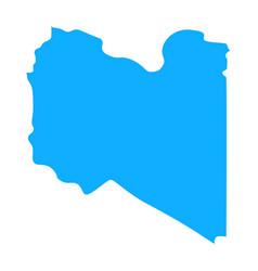Map libya vector