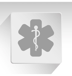 Medical healthcare round icon vector