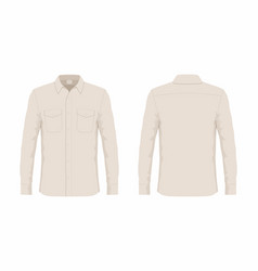 mens beige dress shirt vector image