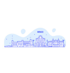 Monaco skyline city buildings vector