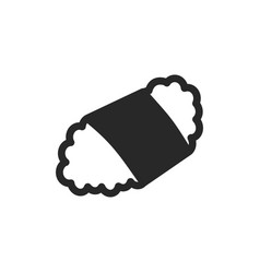 monochrome japanese sushi icon on white background vector image