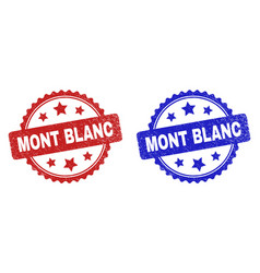 Mont blanc rosette seals using corroded surface vector
