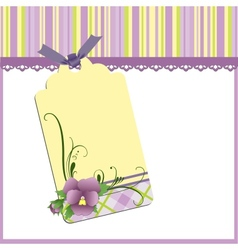 Mothers Day postcard vector image vector image