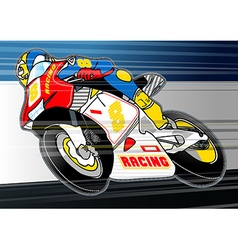 Motorbike sports racing embroidery applique vector