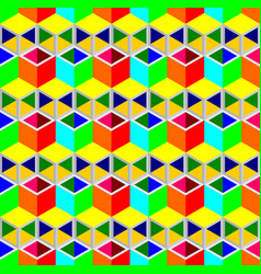 Multi-color cubes pattern seamless background vector