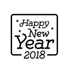 New year of 2018 image vector