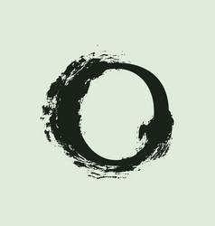 O letter logo custom serif style lettering with vector