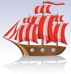 Old sailing vessel vector