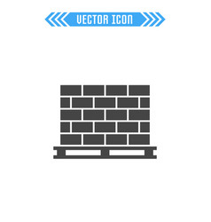 Pallet with bricks sign symbol vector