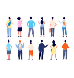 people back view man standing isolated persons vector image