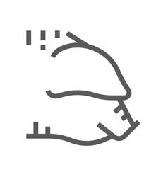 pig head farm animal line icon 48x48 vector image