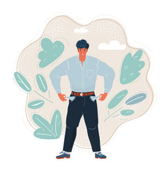poor man turns his pockets vector image
