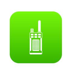 Portable handheld radio icon digital green vector