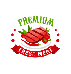 premium fresh meat logo template badge for vector image