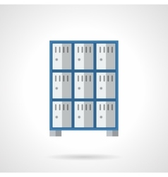 Public lockers flat color design icon vector