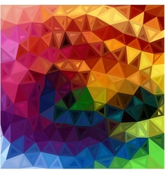 Rainbow colors abstract triangles background vector image