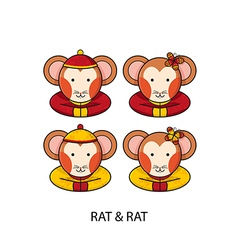 Rat Chinese vector image