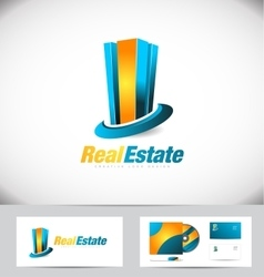 Real estate building logo icon design vector