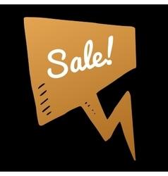 Sale gold doodle speech bubble discount vector