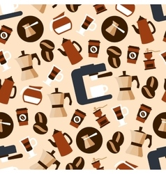 Seamless espresso coffee beverages pattern vector