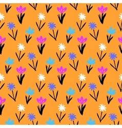 Seamless floral pattern with small flowers vector