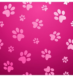 Seamless paw pet background vector