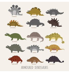 Set early carnivorous dinosaurs eps10 vector