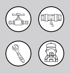set mechanical tool to repair service vector image