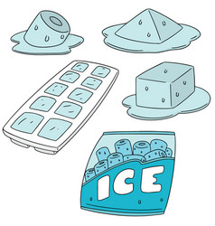 set of ice vector image