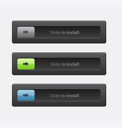 set of sliders and switches block and unlock vector image