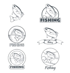 set trout banners vector image