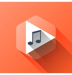 Simple of music icon in flat style vector