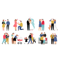 stages family vector image