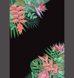 Tropical flower angular background vector