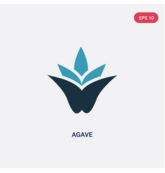 Two color agave icon from nature concept isolated vector