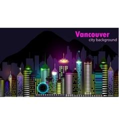 Vancouver Canada skyline silhouette vector